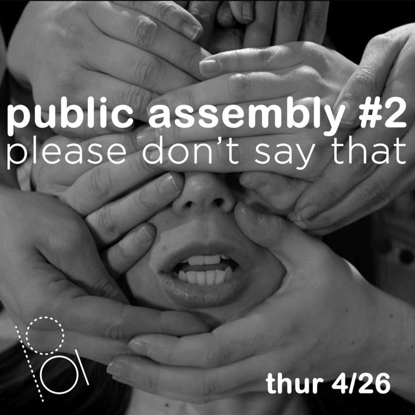 Public Assembly #2 // Please Don't Say That