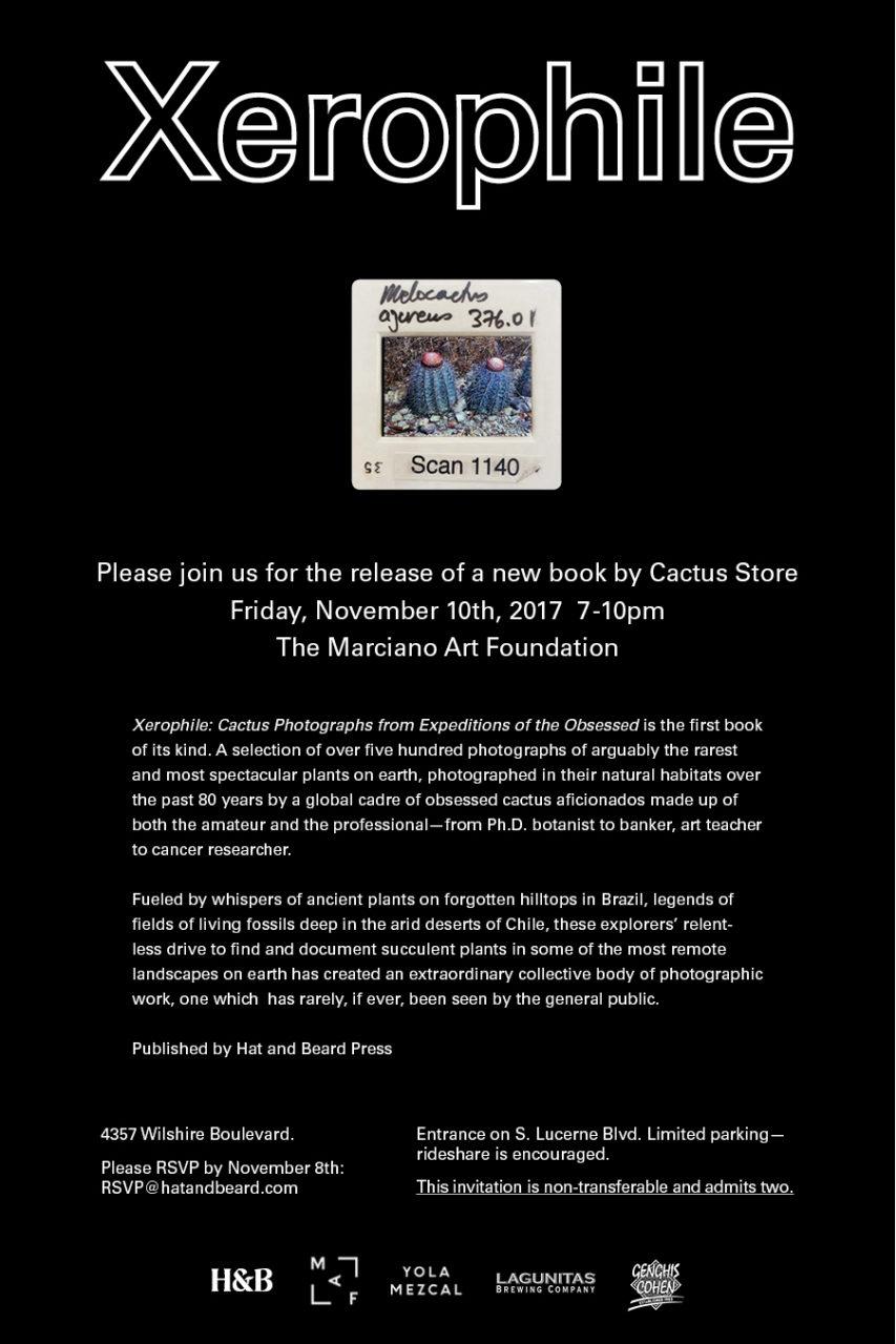 Xerophile // Cactus Store Book Release